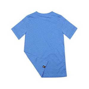 Camiseta Nike Barcelona niño Swoosh Club - Camiseta infantil de manga corta Nike del FC Barcelona - azul - completa trasera
