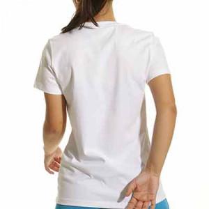Camiseta Nike PSG mujer Ignite - Camiseta de manga corta de algodón para mujer Nike del París Saint-Germain - blanca
