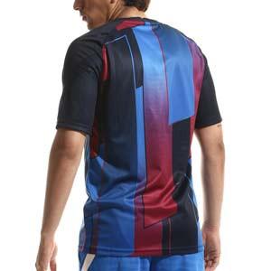 Camiseta Nike Barcelona pre-match - Camiseta de calentamiento pre-partido Nike del FC Barcelona - azulgrana - completa trasera