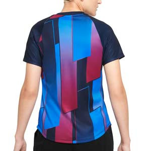 Camiseta Nike Barcelona mujer pre-match - Camiseta de calentamiento pre-partido de mujer Nike del FC Barcelona - azulgrana