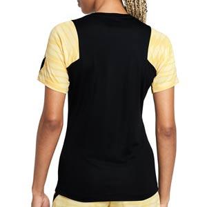 Camiseta Nike Dri-Fit Strike 21 mujer - Camiseta de entrenamiento de fútbol para mujer Nike - negra - trasera