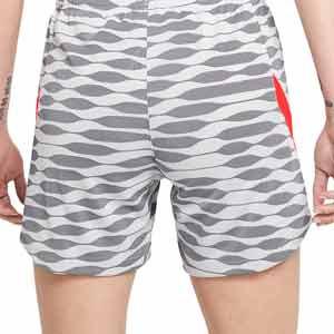 Short Nike Dri-Fit Strike 21 mujer - Pantalón corto de entrenamiento de fútbol para mujer Nike - gris, blanco