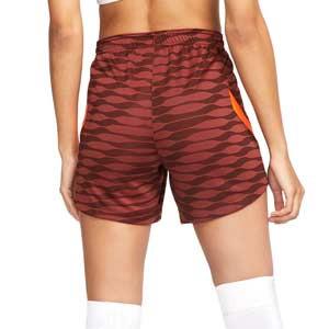 Short Nike Dri-Fit Strike 21 mujer - Pantalón corto de mujer para entrenamiento de fútbol Nike - bronce, naranja