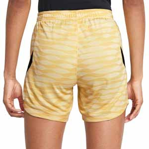 Short Nike Dri-Fit Strike 21 mujer - Pantalón corto de mujer para entrenamiento de fútbol Nike - dorado - trasera
