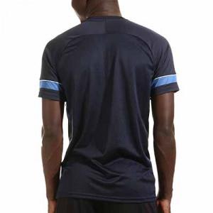 Camiseta Nike Dri-Fit Academy 21 - Camiseta de manga corta de entrenamiento de fútbol Nike - azul marino