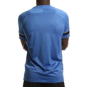 Camiseta Nike Dri-Fit Academy 21 - Camiseta de manga corta de entrenamiento de fútbol Nike - azul - trasera