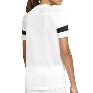Camiseta Nike Dri-Fit Academy 21 niño - Camiseta de manga corta infantil para entrenamiento de fútbol Nike - blanca