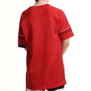 Camiseta Nike Dri-Fit Academy 21 niño - Camiseta de manga corta infantil para entrenamiento de fútbol Nike - roja