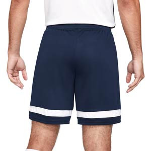 Short Nike Dri-Fit Academy 21 - Pantalón corto de entrenamiento de fútbol Nike - azul marino - trasera