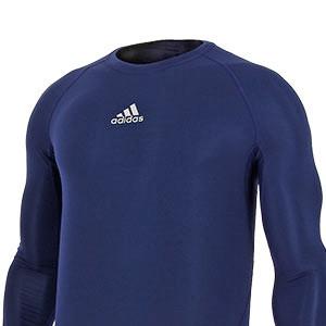 Camiseta compresiva M/L adidas Alphaskin - Camiseta entrenamiento compresiva manga larga adidas Alphaskin - Azul - frontal