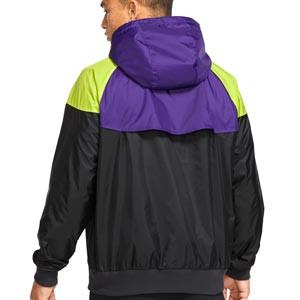 Cortavientos Nike Tottenham Windrunner Hoodie - Chaqueta cortavientos Nike del Tottenham Hotspur FC - negra, lila