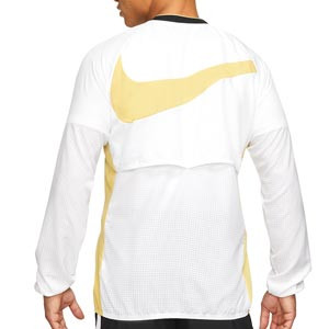 Cortavientos Nike Dry Academy All Weather Fan - Chaqueta cortavientos de fútbol Nike - blanco - trasera