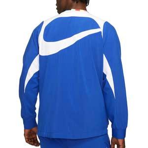 Chaqueta Nike FC Dri-Fit Woven All Weather Fan - Chaqueta de entrenamiento de fútbol Nike de la colección Joga Bonito - azul