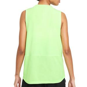 Camiseta tirantes Nike FC Dri-Fit mujer - Camiseta sin mangas para mujer Nike de la colección Joga Bonito - verde lima - trasera