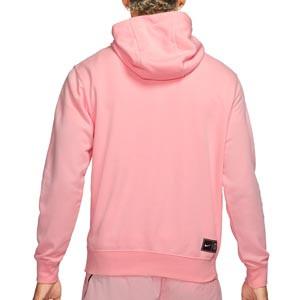 Sudadera Nike PSG Terry Soccer Fleece Hoodie - Sudadera con capucha de algodón Nike del París Saint-Germain - rosa