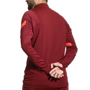 Sudadera Nike Liverpool entrenamiento Dri-Fit Strike - Sudadera de entrenamiento Nike del Liverpool FC - granate - completa trasera
