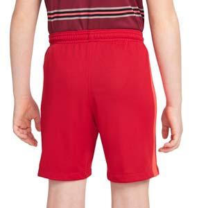 Short Nike Liverpool 2021 2022 niño Dri-Fit Stadium - Pantalón corto infantil primera equipación Nike del Liverpool FC 2021 2022 - rojo - trasera
