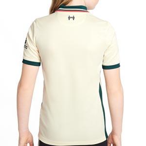Camiseta Nike Liverpool 2a niño 2021 2022 Stadium - Camiseta segunda equipación infantil Nike del Liverpool FC 2021 2022 - beige