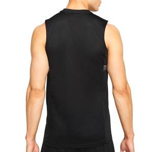 Camiseta tirantes Nike Dri-Fit Academy 21 - Camiseta sin mangas de entrenamiento de fútbol Nike - negra - trasera