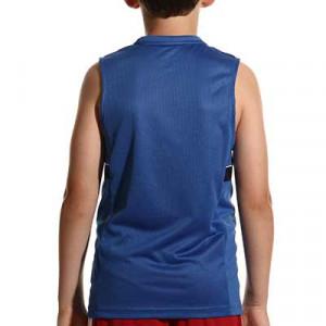 Camiseta tirantes Nike Dri-Fit Academy 21 niño - Camiseta sin mangas infantil de entrenamiento de fútbol Nike - azul - hover