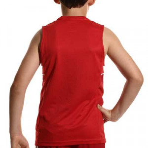 Camiseta tirantes Nike Dri-Fit Academy 21 niño - Camiseta sin mangas infantil de entrenamiento de fútbol Nike - roja - hover