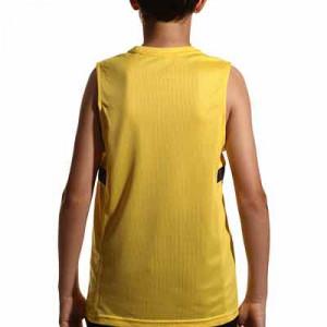 Camiseta tirantes Nike Dri-Fit Academy 21 niño - Camiseta sin mangas infantil de entrenamiento de fútbol Nike - amarilla - hover