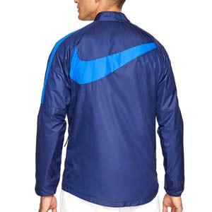 Chubasquero Nike Atlético Repel Academy All Weather Fan - Chubasquero Nike del Atlético de Madrid - azul marino - trasera