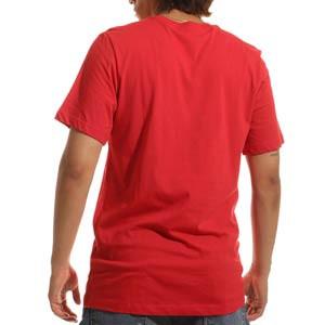 Camiseta algodón Nike Atlético Swoosh Club - Camiseta de algodón Nike del Atlético de Madrid - roja
