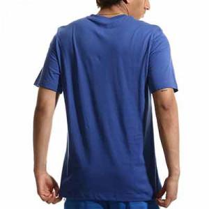 Camiseta Nike Chelsea Swoosh Club - Camiseta de algodón Nike del Chelsea FC - azul - completa trasera