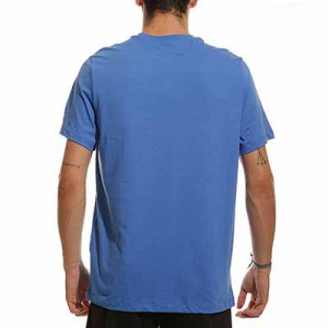 Camiseta Nike Barcelona Swoosh Club algodón - Camiseta de manga corta de algodón Nike del FC Barcelona - azul