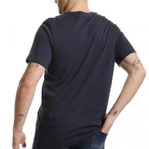 Camiseta Nike Barcelona Swoosh Club - Camiseta de manga corta de algodón Nike del FC Barcelona - azul marino