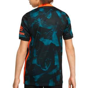 Camiseta Nike 3a Chelsea 2021 2022 niño Dri-Fit Stadium - Camiseta tercera equipación infantil Nike del Chelsea FC 2021 2022 - azul verdosa, negra