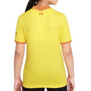 Camiseta Nike Liverpool 3a niño 2021 2022 Stadium - Camiseta tercera equipación infantil Nike del Liverpool FC 2021 2022 - amarilla