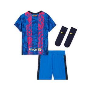 Equipación Nike Barcelona bebé 3 - 36 meses 3a 2021 2022 - Conjunto bebé de 3 a 36 meses Nike tercera equipación FC Barcelona 2021 2022 - azul, rosa