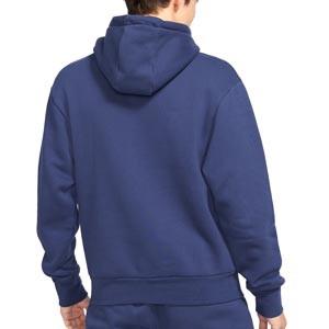 Sudadera Nike PSG x Jordan Statement Fleece - Sudadera con capucha de algodón Nike del París Saint-Germain - azul marino