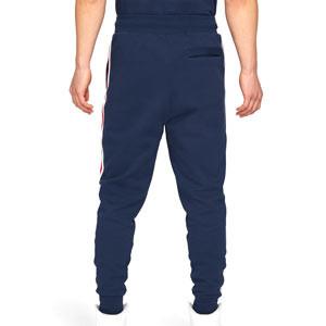 Pantalón Nike PSG x Jordan Fleece - Pantalón largo de paseo de algodón Nike x Jordan del París Saint-Germain - azul marino