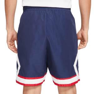 Short Nike PSG x Jordan Jumpman - Pantalón corto de calle de algodón Nike x Jordan del París Saint-Germain - azul marino - trasera