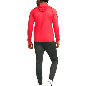 Chándal Nike Atlético Dri-Fit Strike Hoodie UCL - Chándal de paseo Nike del Atlético de la Champions League 2021 2022 - rojo, verde oscuro