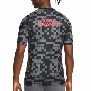 Camiseta Nike PSG pre-match UCL - Camiseta calentamiento pre partido Paris Saint-Germain de la Champions League 2021 2022 - gris, negra