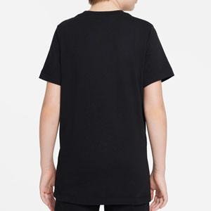 Camiseta Nike Liverpool Swoosh Club niño - Camiseta infantil de algodón Nike del Liverpool - negra - trasera
