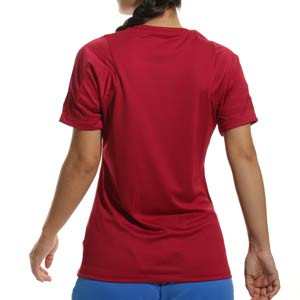 Camiseta Nike Barcelona entrenamiento mujer Strike - Camiseta de entrenamiento para mujer Nike del FC Barcelona - granate - trasera