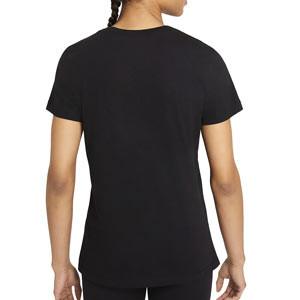 Camiseta Nike Liverpool Swoosh Club mujer - Camiseta de algodón de mujer Nike de Liverpool - negra - trasera