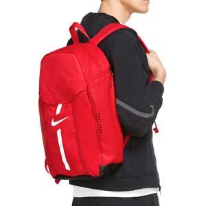Mochila Nike Academy Team - Mochila de deporte Nike (48x35x17 cm) - roja - trasera
