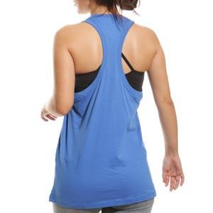 Camiseta tirantes Nike Barcelona mujer Swoosh Club - Camiseta sin mangas de algodón para mujer Nike del FC Barcelona - azul