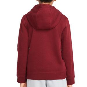 Sudadera Nike Liverpool niño Hoodie Club - Sudadera con capucha infantil de algodón Nike del Liverpool FC - granate
