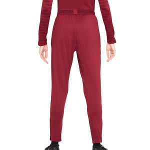 Pantalón Nike Liverpool Dri-Fit Strike mujer - Pantalón largo de entrenamiento para mujer Nike del Liverpool FC - granate - trasera