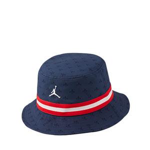 Sombrero Nike PSG x Jordan Bucket Graphic - Sombrero de pescador Nike x Jordan del París Saint-Germain - azul marino y rojo