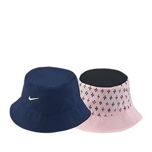 Sombrero Nike PSG Bucket Reversible - Sombrero de pescador Nike x Jordan del París Saint-Germain - azul marino y rosa