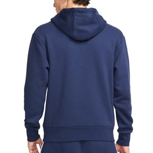 Sudadera Nike PSG x Jordan Fleece - Sudadera con capucha de algodón Nike x Jordan del París Saint-Germain - azul marino
