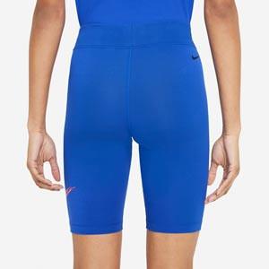 Mallas Nike mujer Essential Print - Mallas tipo ciclista de mujer Nike - azules - trasera